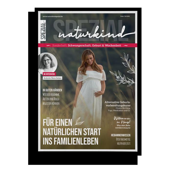 Zeitschrift Schwangerschaft, Geburt, Wochenbett, Naturkind Magazin, Eltern