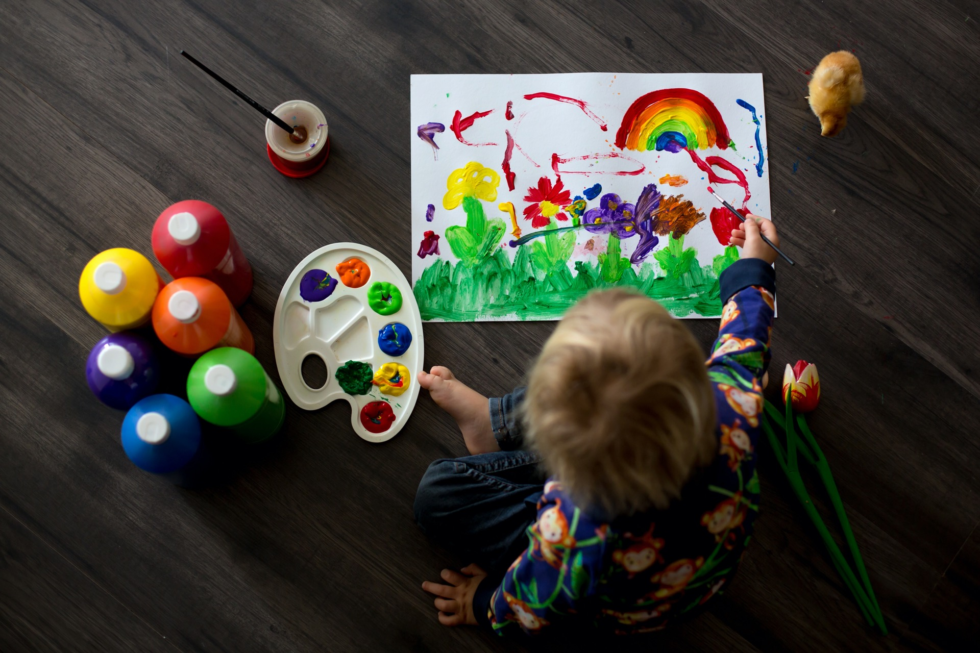 Malwettbewerb Kinder Corona Regenbogen