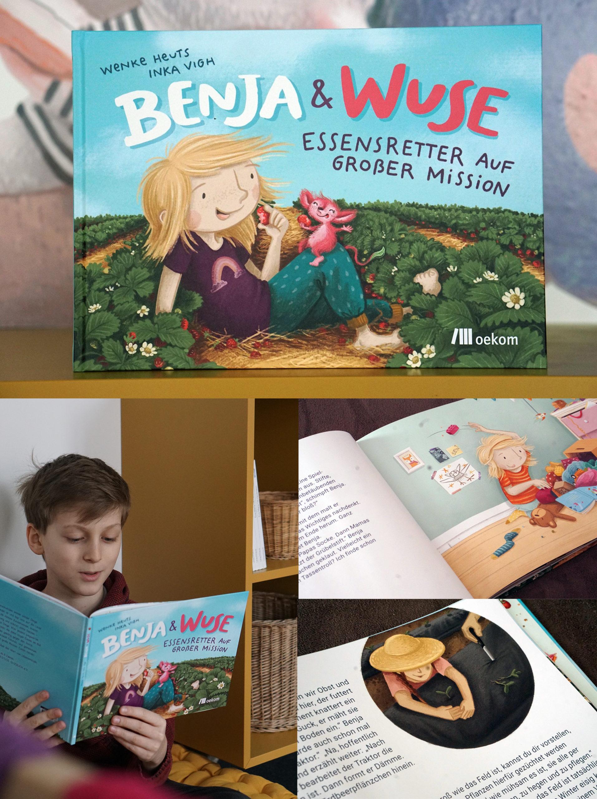 Kinderbuch Ben und Muse - Essensretter auf Mission oekom Verlag