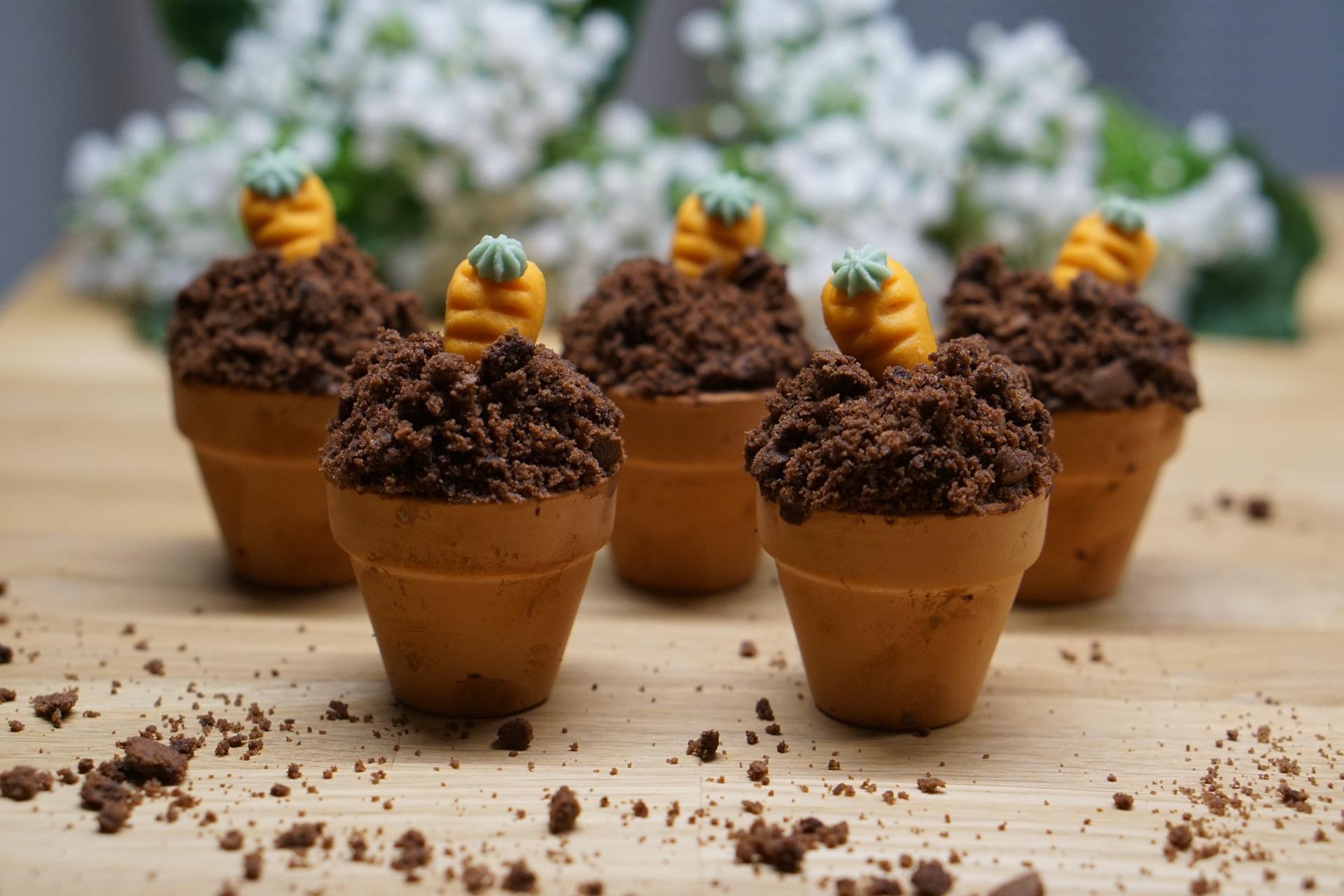 Ostern Muffins im Blumentopf